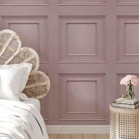 Oliana Wood Panel Wallpaper Belgravia 8488 Pink