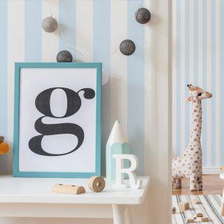 Pastel Blue Stripe Wallpaper - 110515 A