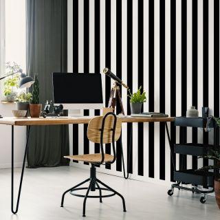 Monochrome Stripe Wallpaper - 110515