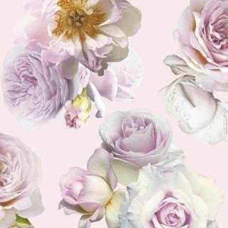 Arthouse Pink Roses Floral Effect Metallic Wallpaper 902906