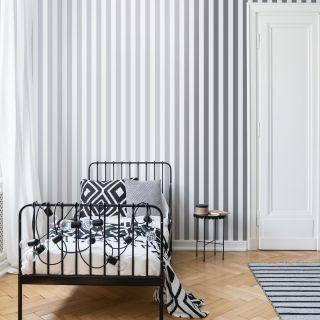 Silver Stripe Wallpaper - 110415