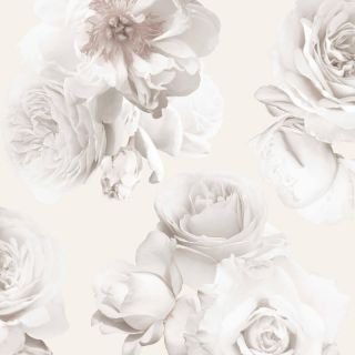 Arthouse Floral Bloom Blush Champagne Metallic Wallpaper 902907