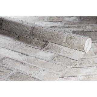 Anaglypta Embossed Realistic Sand Brick Textured Wallpaper - 1003618