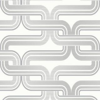 Arthouse Link Silver White Geometric Design Trendy Wallpaper 902406