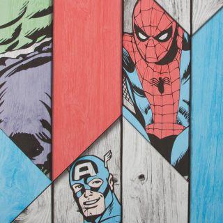 Marvel Wood Panel Wallpaper - 16816