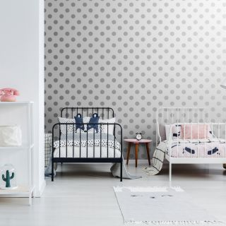 Silver Dotty Wallpaper - 110415