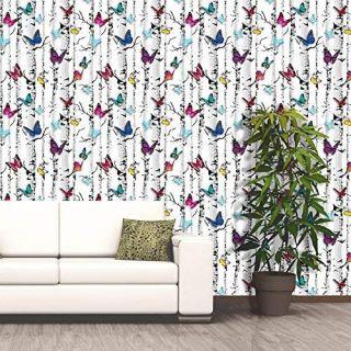 Muriva Wallpaper 102529 - Emperors Garden - Butterflies Birch Tree NEW