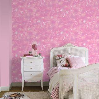 Rasch Nebula Galaxy Pink Glitter Wallpaper 273212