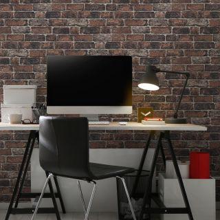 Fresco Red Brick Wall Wallpaper - 100016