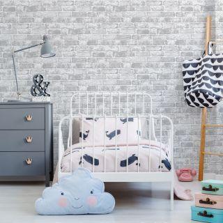 White Brick Wall Wallpaper - 100016