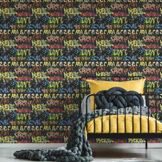 Graffiti Black Wallpaper - 100516
