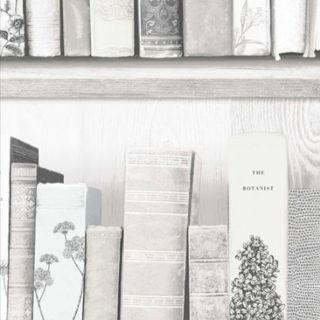 Botany Library White Blue Wallpaper -  13617