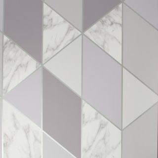 SUBLIME MARBLE GEO Grey Wallpaper - 106933