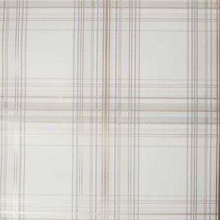 Fresco Iona Check Natural Wallpaper - 107454
