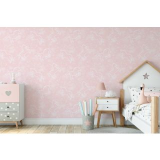 Illumicorn Pink - Glow In The Dark Wallpaper - 311218