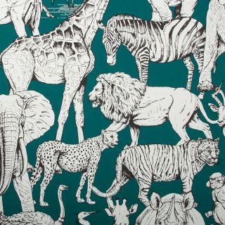 Jungle Animals Vert Wallpaper - 110619