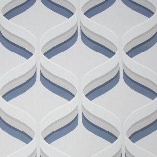 Fresco Retro Ogee Navy Wallpaper - 107744