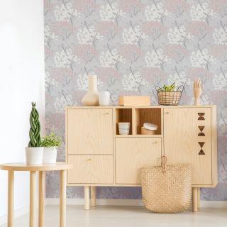 Fresco Lykke Tree Pink Wallpaper - 107971
