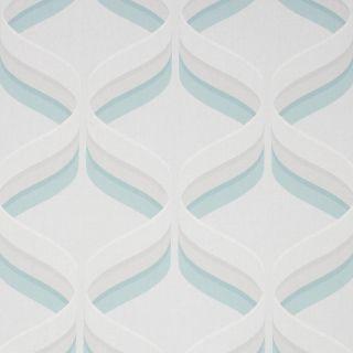 Fresco Retro Ogee Sky Blue Wallpaper - 107977