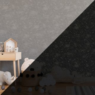 Constellation Grey - Glow In The Dark Wallpaper -  311218