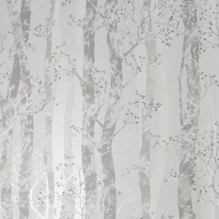 SUBLIME Dappled Trees Grey / Silver Wallpaper - 108183