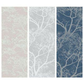 Holden Decor Whispering Trees Glitter Feature Wallpaper-Dusky Pink- 65400-Grey- 65401