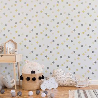 Dotty Polka Yellow  Wallpaper - 108264