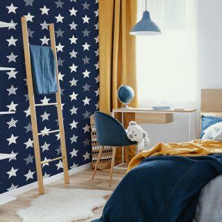 Stars Navy Wallpaper -  110615 neg 4