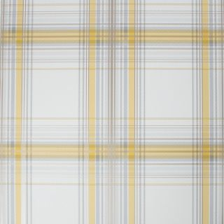 Fresco Iona Check Ochre Wallpaper - 108285