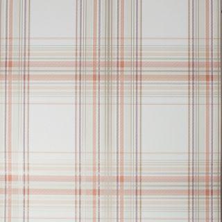 Fresco Iona Check Burnt Orange Wallpaper - 108288