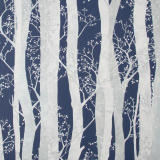 SUBLIME Dappled Trees Navy Wallpaper - 108292