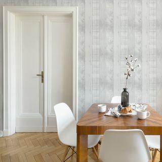 Fresco Country Plank Grey Wallpaper - 108294