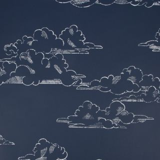 Vintage Cloud Navy Wallpaper - H580-19