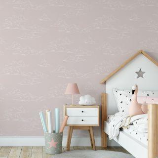 Vintage Cloud Pink Wallpaper - H580-14
