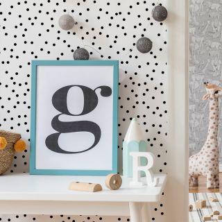 Confetti Black White Wallpaper - 101516 10