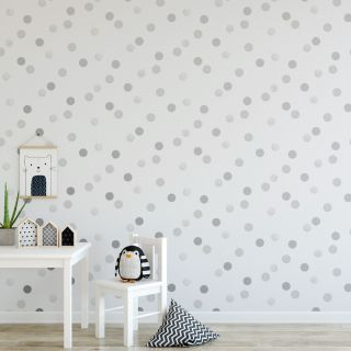 Dotty Polka Silver Wallpaper - 112119 5