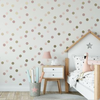 Dotty Polka Pink American Gold Wallpaper - 112119 1