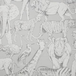 Jungle Animals Grey Walllpaper - 110619 Y