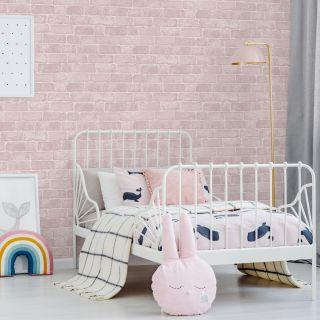Pink Brick Wallpaper - 100016 2