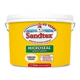 Sandtex Ultra Smooth Masonry Paint Cornish Cream 10L