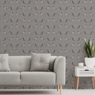 Crown Glamorous Leopard Sparkling Glitter Wallpaper Charcoal M1495