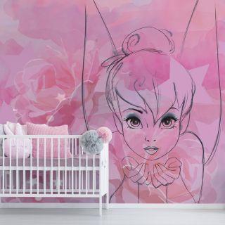 Tinkerbell Watercolour Mural Wallpaper