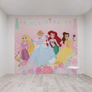 Princess Party Mural Wallpaper