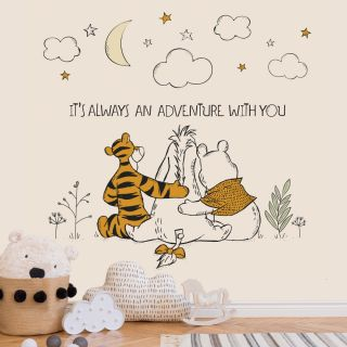 Winnie The Pooh Friends Forever Mural Wallpaper
