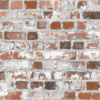Muriva Stone Loft Brick Red Wallpaper Wipe-able 3D Effect- J64528