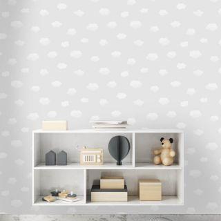Holden Decor Sky Cloudy Grey/White Wallpaper- 90990