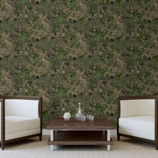 Debona Liquid Marble Green/Gold Glitter Wallpaper- 6358