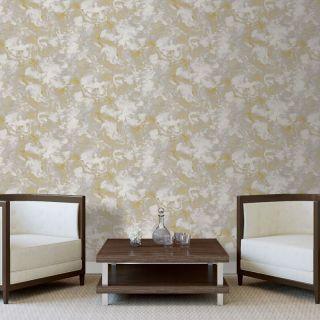 Debona Liquid Marble Yellow Glitter Wallpaper- 6361