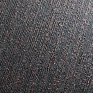 Muriva Indra Texture Plain Charcoal & Rose Gold  Wallpaper - 154124