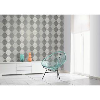 Arthouse Scandi Leaf Wallpaper - Mono Grey Silver Glitter